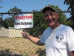 photo of Kev Schave's reserved spot at Sunset Speedway