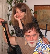 photo of us on our anniversary with clam gun