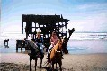 photo of Denise & Kathy in front of the Peter Iredale on their Appys