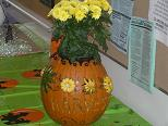 photo of decorated pumpkin