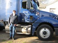 photo Kevin and his work truck