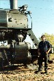 photo of Kevin by steam engine