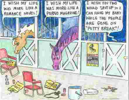 On Foal Watch cartoon